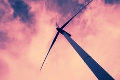 Energia di energia eolica Fotografia Stock Libera da Diritti