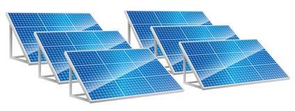 Energia di energia solare, pannelli solari, energia rinnovabile Fotografie Stock Libere da Diritti