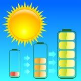 Energia di Sun illustrazione di stock