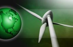 Energia di vento Immagine Stock