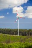 Energia di vento, turbina bianca Fotografia Stock Libera da Diritti