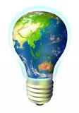 Energia do globo - Ásia e Austrália Foto de Stock Royalty Free
