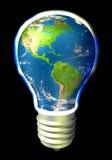 Energia do globo - América Imagem de Stock