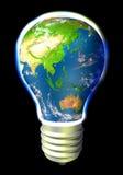 Energia do globo - Austrália e Ásia Foto de Stock Royalty Free