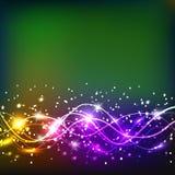 Energia do movimento e da beleza Ilustração abstrata em cores brilhantes Imagem de Stock