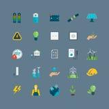 Energia do poder, ícones amigáveis do eco Imagem de Stock Royalty Free