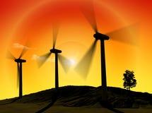 Energia do vento ilustração do vetor
