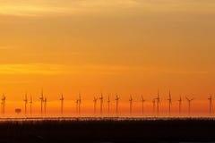 Energia do vento ou da natureza da potência Fotografia de Stock