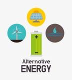 Energia do verde de Eco Fotografia de Stock