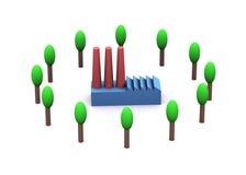 Energia e ambiente ilustração do vetor