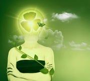 Energia e concetto verdi di protezione di eco. Fotografia Stock Libera da Diritti