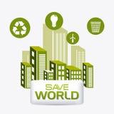 Energia e ecologia verdes Imagem de Stock