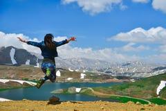 Energia e entusiasmo das montanhas imagem de stock royalty free