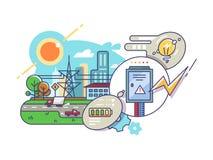 Energia e fornecimento de eletricidade ilustração royalty free