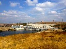 Energia elétrica de Sul-Ucrânia produzindo o complexo, região de Nikolaev, Ucrânia imagem de stock royalty free
