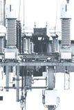 Energia elettrica ad alta tensione Immagini Stock Libere da Diritti