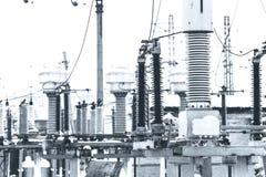 Energia elettrica ad alta tensione Fotografia Stock