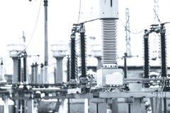 Energia elettrica ad alta tensione Fotografie Stock Libere da Diritti