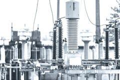 Energia elettrica ad alta tensione Fotografie Stock