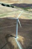 Energia elettrica del mulino a vento Immagini Stock Libere da Diritti