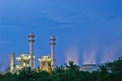 Energia elettrica del nakhon di Amata sulla notte fotografia stock libera da diritti