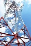 Energia elettrica del palo ad alta tensione Immagini Stock Libere da Diritti
