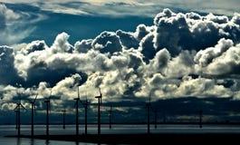 Energia eolica Fotografia Stock Libera da Diritti
