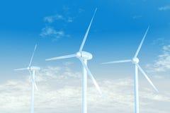 Energia eolica Fotografie Stock