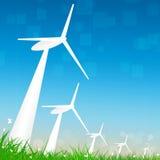 Energia eolica alternativa Immagine Stock