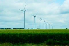 Energia eolica con i turbanti del vento Fotografia Stock Libera da Diritti
