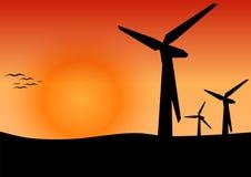 Energia eolica, concetto dell'energia alternativa illustrazione vettoriale
