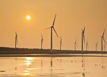 Energia eolica della costa di Taiwan fotografie stock
