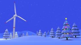 Energia eolica di Natale fotografia stock