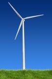 Energia eolica ed erba Fotografia Stock