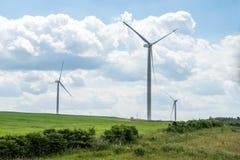 Energia eolica in natura fotografie stock