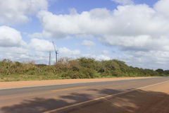 Energia eolica in Rio Grande do Norte, Brasile Immagini Stock