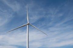 Energia eolica sulla montagna Immagini Stock