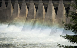 Energia hidroelétrico da represa Imagem de Stock