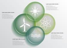 Energia infographic Imagens de Stock