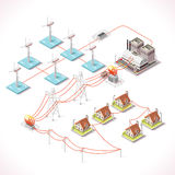 Energia 16 Infographic Isometric Obrazy Royalty Free