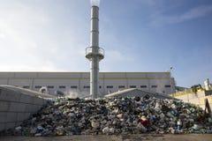 Energia jałowy śmieciarski grat obrazy stock