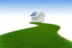 Energia limpa - painel solar Foto de Stock Royalty Free