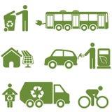 Energia limpa, recicl e ambiente Imagens de Stock