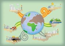 Energia na świecie Fotografia Royalty Free