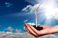 Energia nova da sustentação foto de stock
