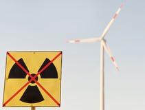Energia nucleare? Nessun ringraziamenti! Immagini Stock Libere da Diritti