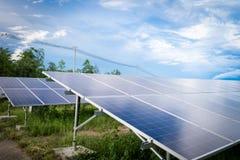Energia pulita del pannello solare dalla Tailandia Fotografia Stock Libera da Diritti