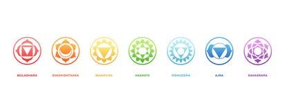 Energia que cura, vetor sagrado de Chakras da geometria Imagem de Stock Royalty Free