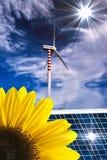 Energia renovável e desenvolvimento sustentável foto de stock
