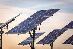 Energia renovável - painéis solares Foto de Stock